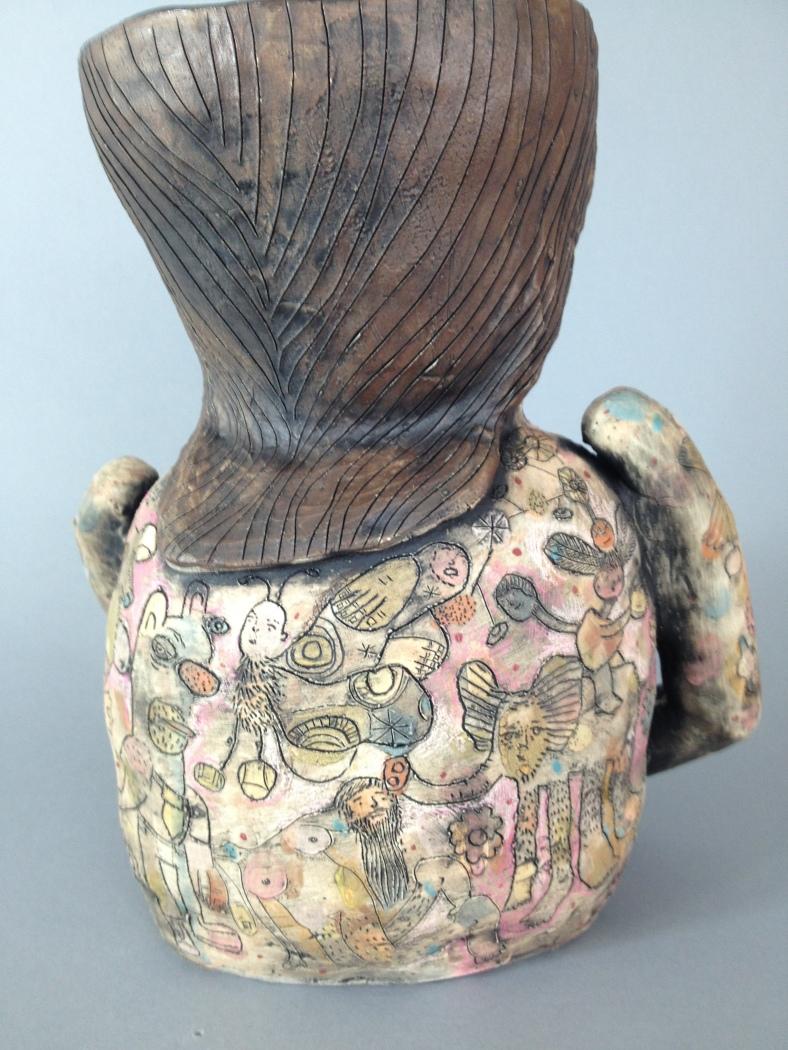 Detail  back of vase