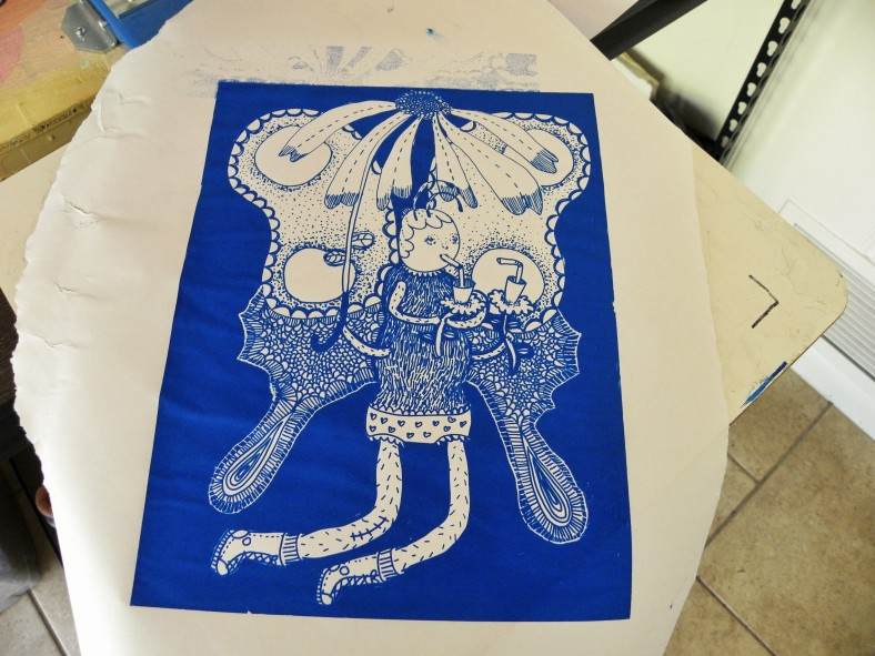 Silk screen print---to be used on t-shirts