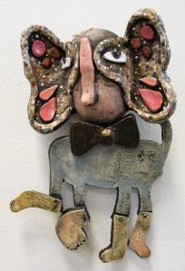 Here is another wall piece.  Made from entirely clay materials.