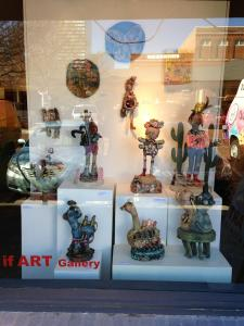this is a view from the street into the If Art Gallery in Columbia, SC!!! Lived here for three years---feel nostalgic about that experience and geographical location---