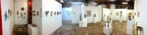 here is an interior shot of the show after installation.  I had the space to myself for the duration of the exhibition.