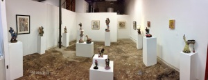 here is a view of the interior of If Art gallery once the show was installed---Wim Roefs did such a fantastic job curating the work.